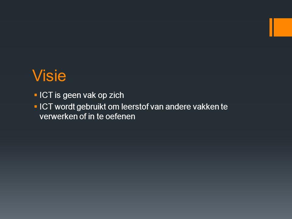 Visie ICT is geen vak op zich
