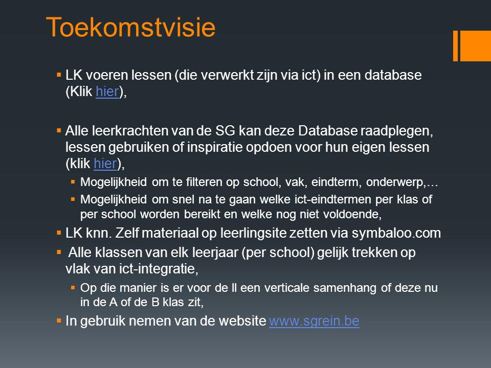 Toekomstvisie LK voeren lessen (die verwerkt zijn via ict) in een database (Klik hier),