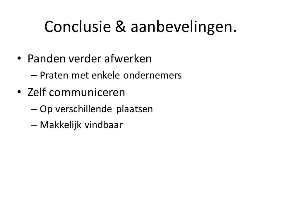 Conclusie & aanbevelingen.