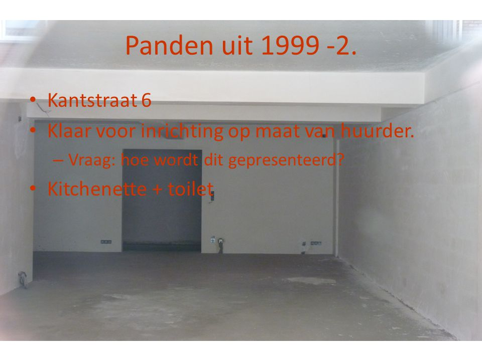 Panden uit 1999 -2. Kantstraat 6