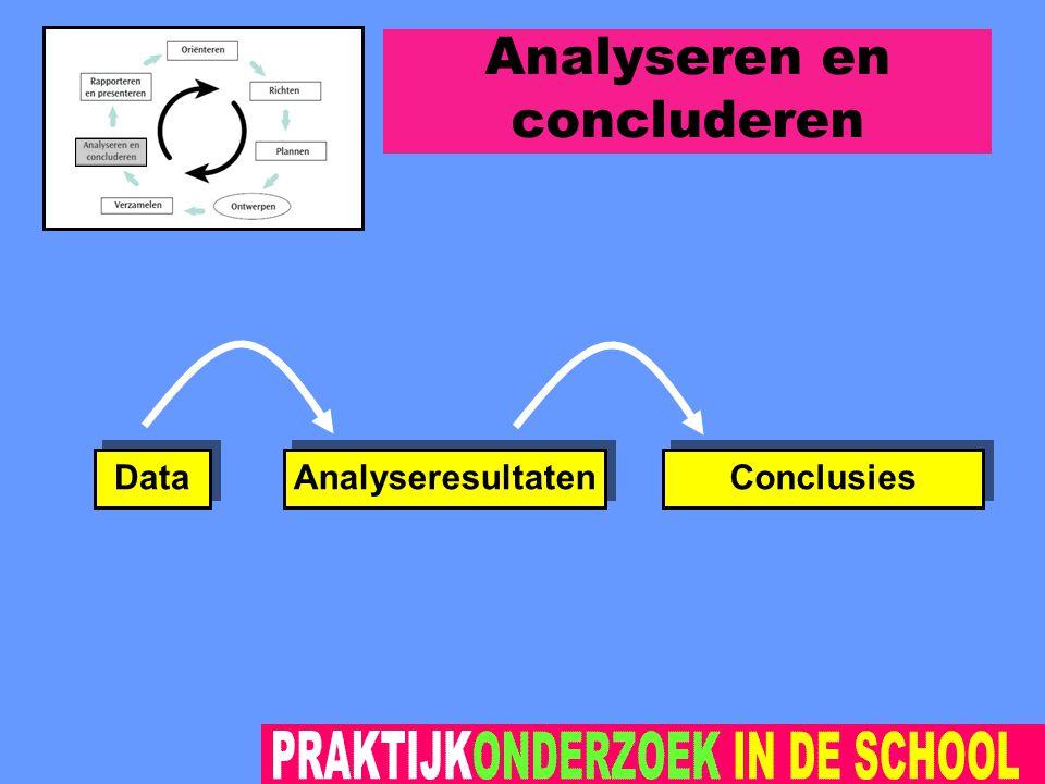Analyseren en concluderen