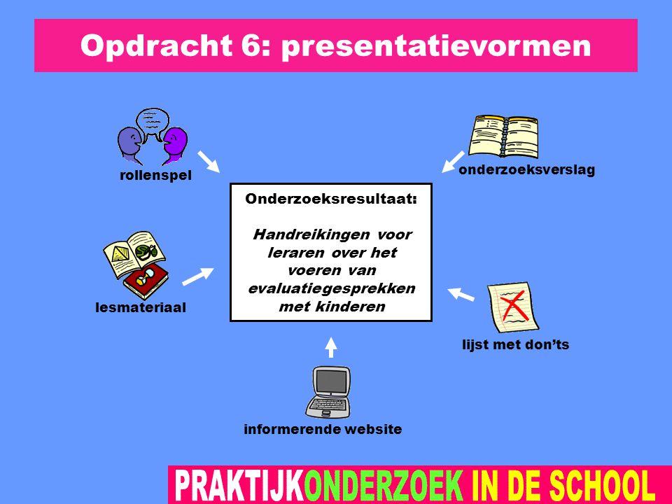 Opdracht 6: presentatievormen