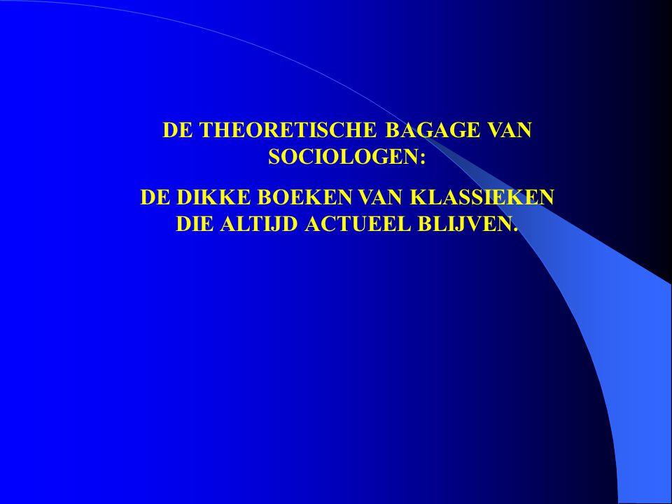 DE THEORETISCHE BAGAGE VAN SOCIOLOGEN: