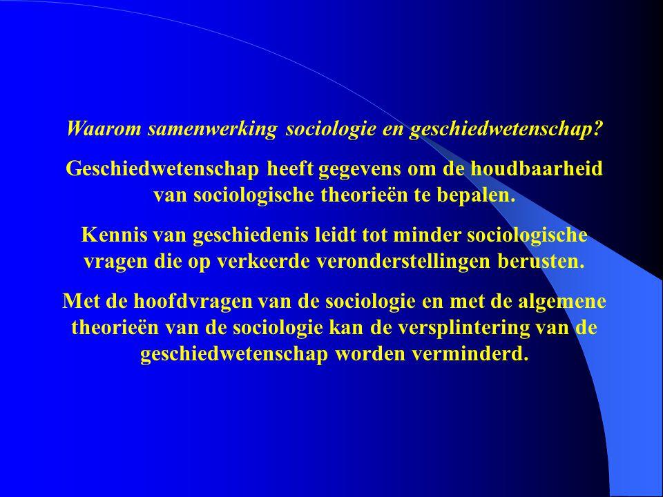 Waarom samenwerking sociologie en geschiedwetenschap