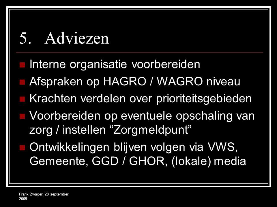 Adviezen Interne organisatie voorbereiden