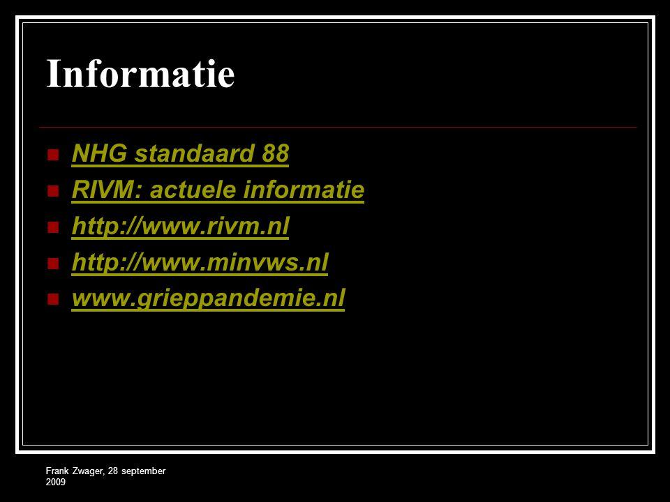 Informatie NHG standaard 88 RIVM: actuele informatie