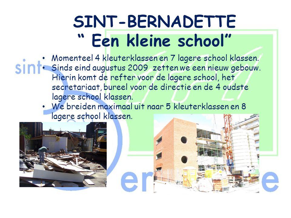 SINT-BERNADETTE Een kleine school