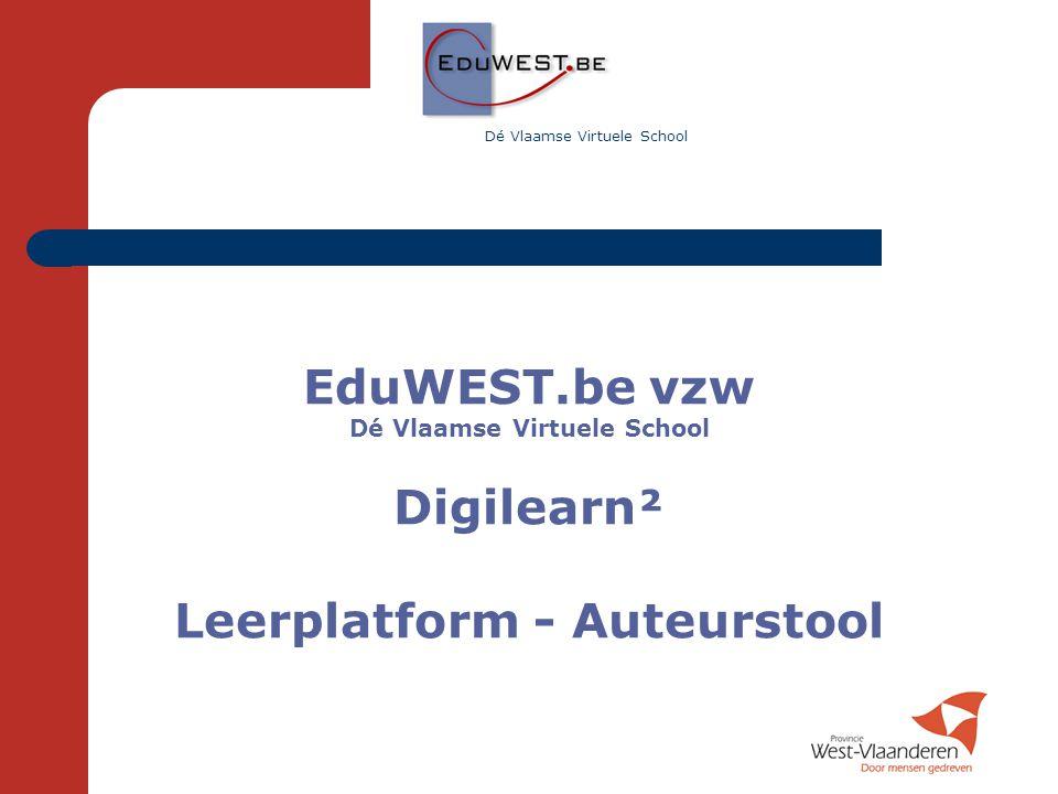 Dé Vlaamse Virtuele School Leerplatform - Auteurstool