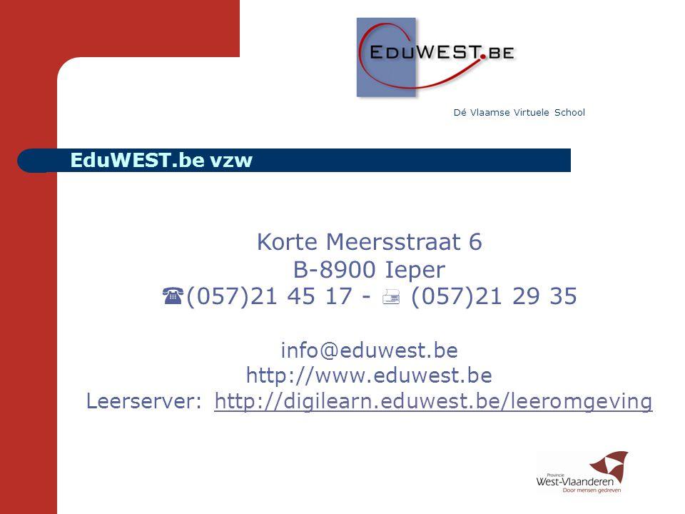 Leerserver: http://digilearn.eduwest.be/leeromgeving