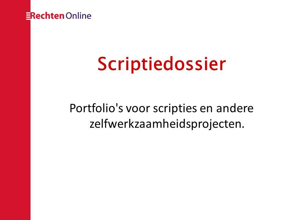 Portfolio s voor scripties en andere zelfwerkzaamheidsprojecten.