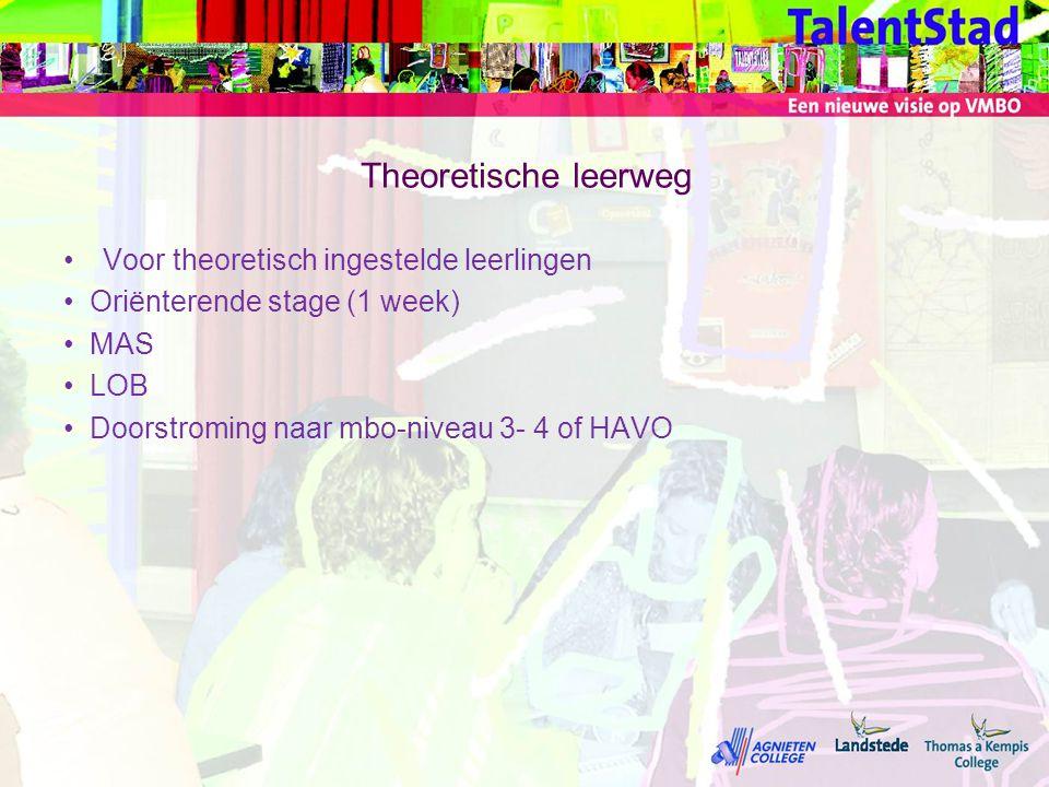 Theoretische leerweg Voor theoretisch ingestelde leerlingen