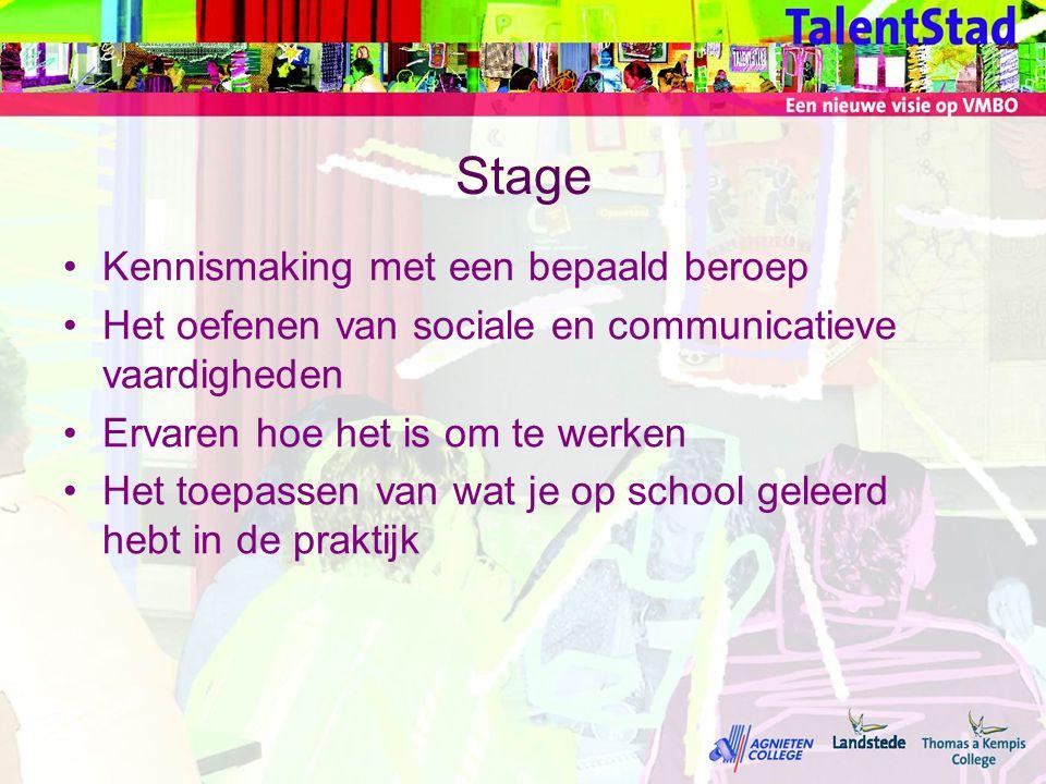 Stage Kennismaking met een bepaald beroep