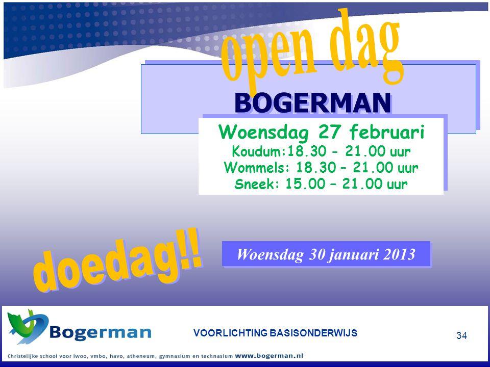 BOGERMAN open dag doedag!!