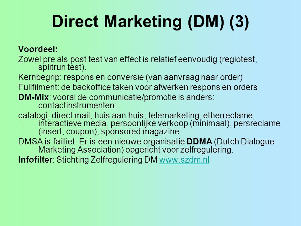 Direct Marketing (DM) (3)