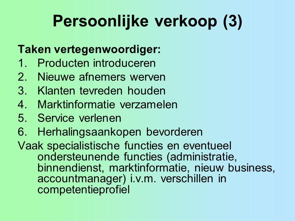 Persoonlijke verkoop (3)