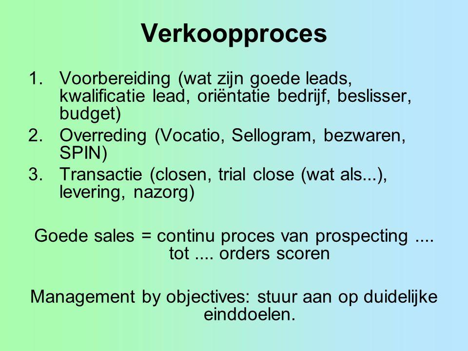 Management by objectives: stuur aan op duidelijke einddoelen.