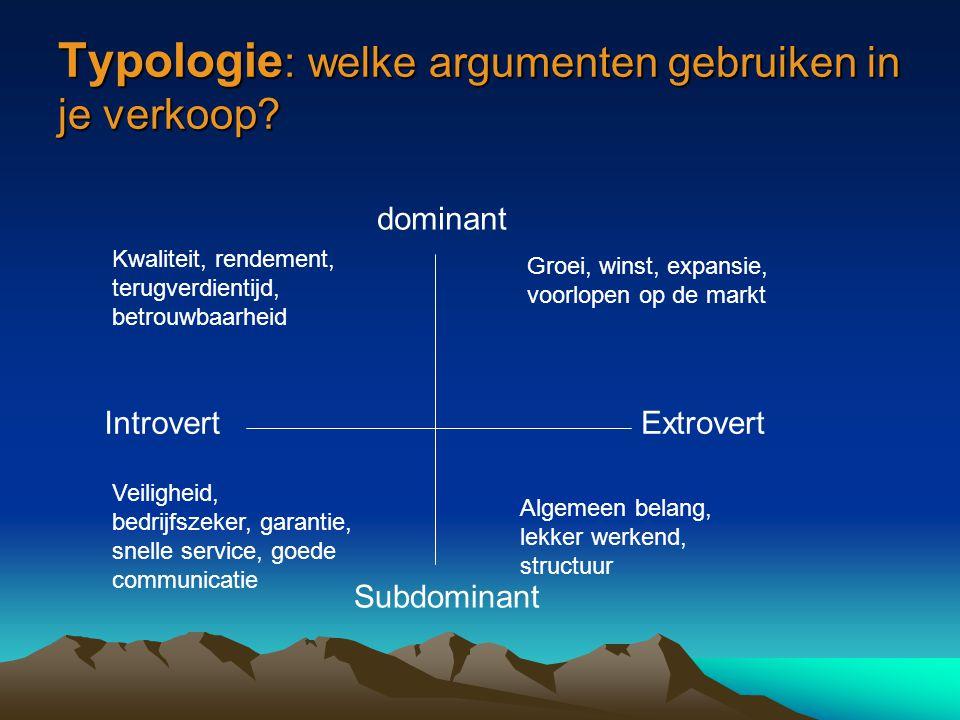 Typologie: welke argumenten gebruiken in je verkoop
