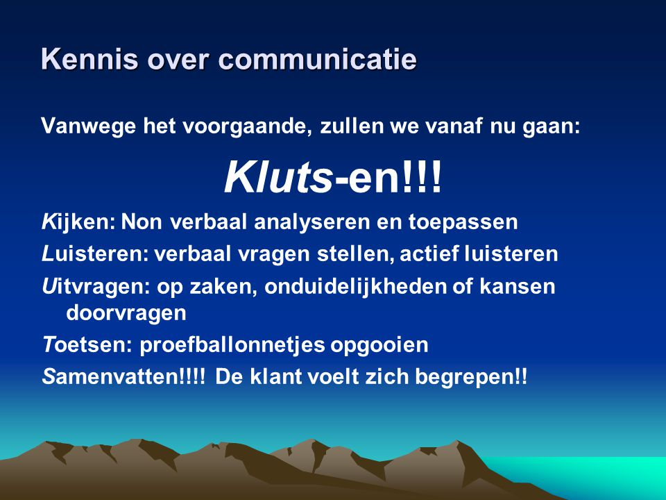 Kennis over communicatie