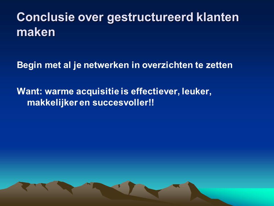 Conclusie over gestructureerd klanten maken