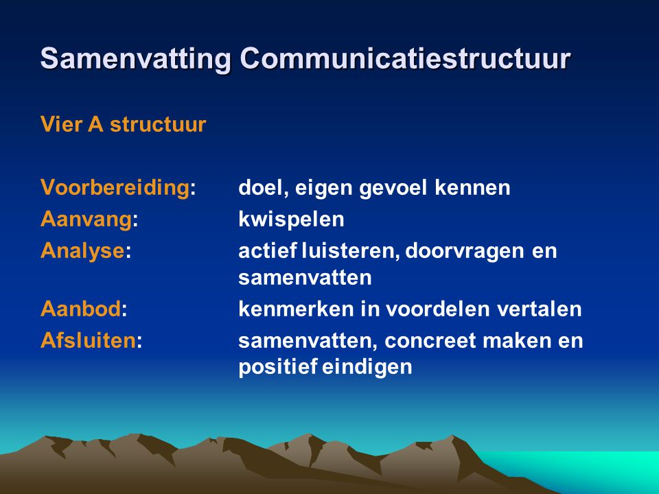 Samenvatting Communicatiestructuur