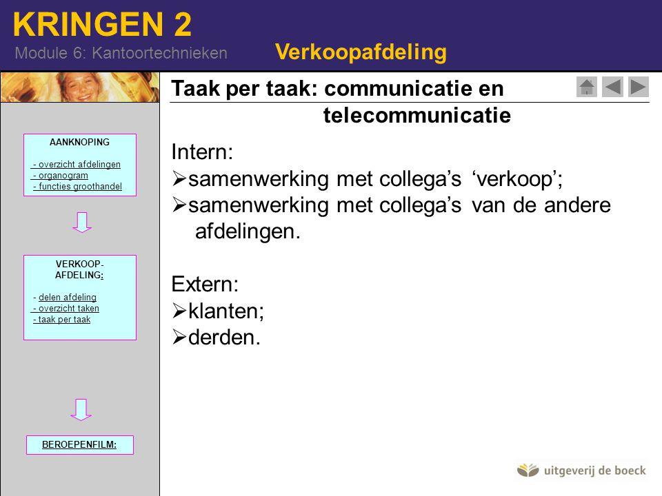 Taak per taak: communicatie en telecommunicatie