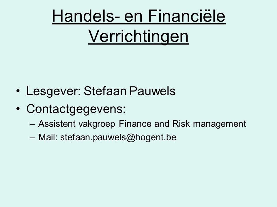 Handels- en Financiële Verrichtingen