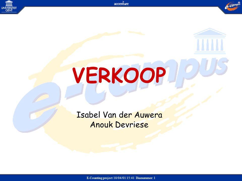 VERKOOP Isabel Van der Auwera Anouk Devriese Verkoop