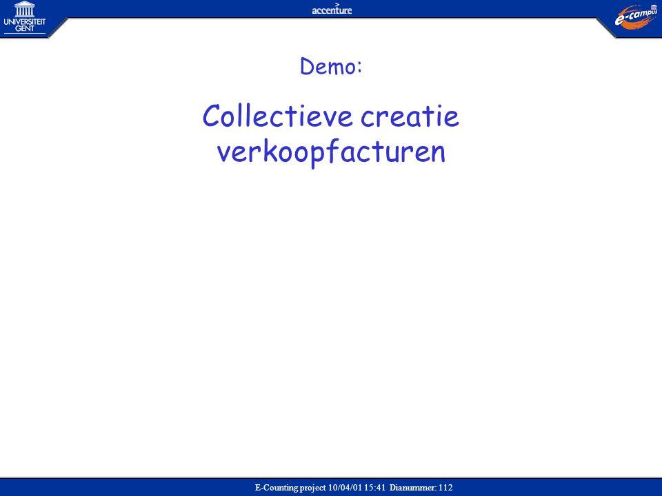Collectieve creatie verkoopfacturen