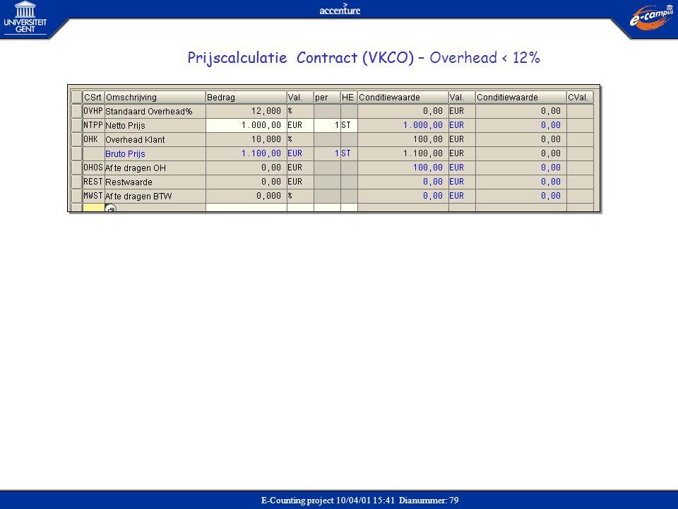 Prijscalculatie Contract (VKCO)