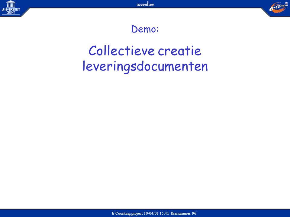 Collectieve creatie leveringsdocumenten