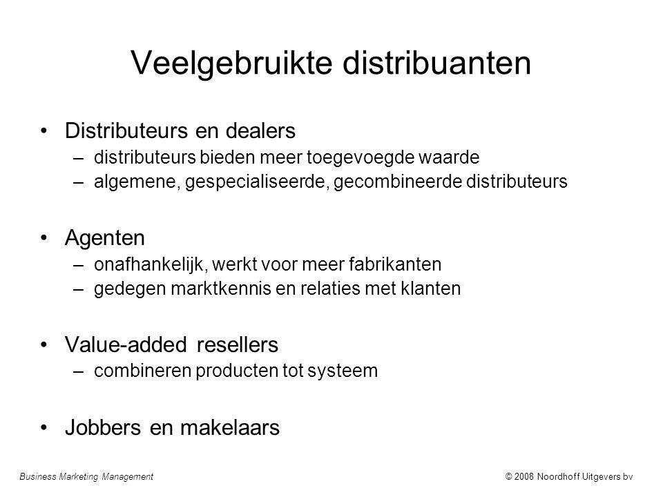 Veelgebruikte distribuanten