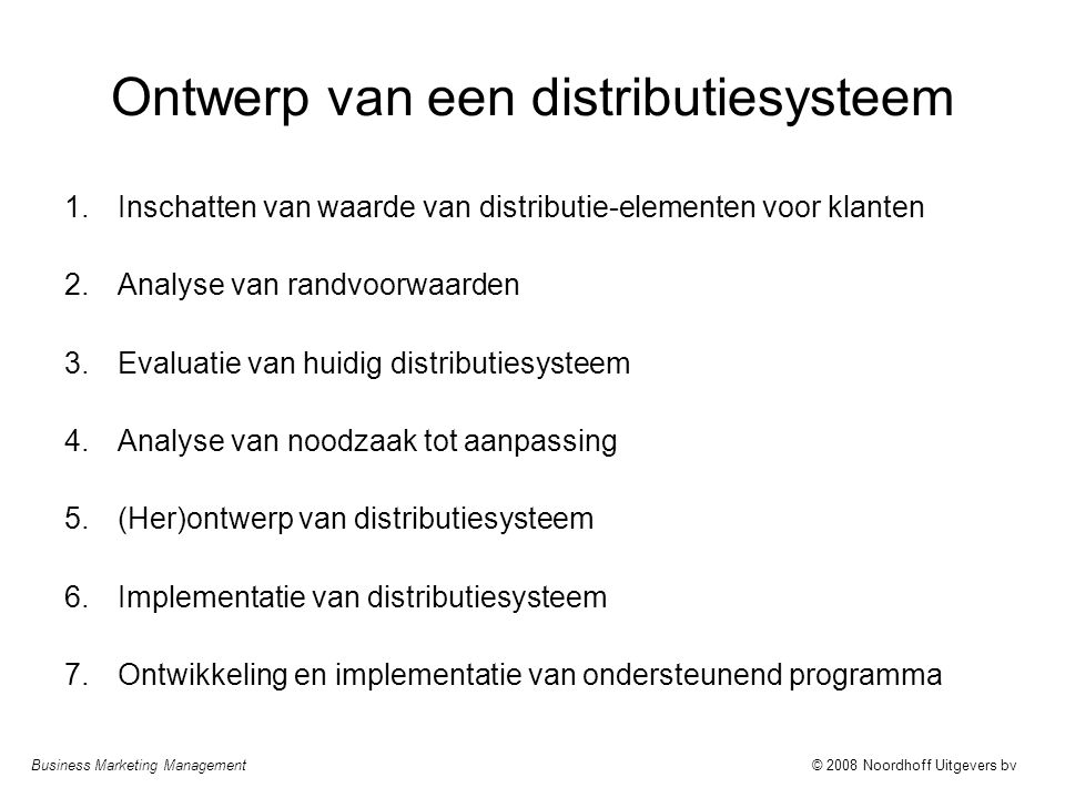 Ontwerp van een distributiesysteem