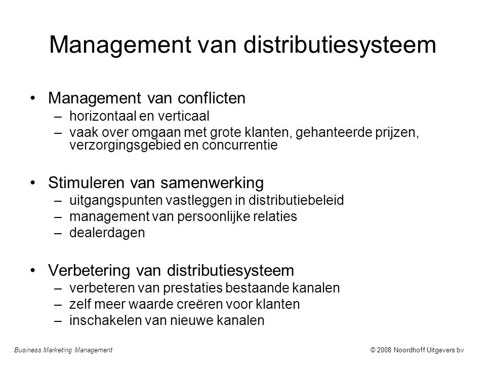 Management van distributiesysteem