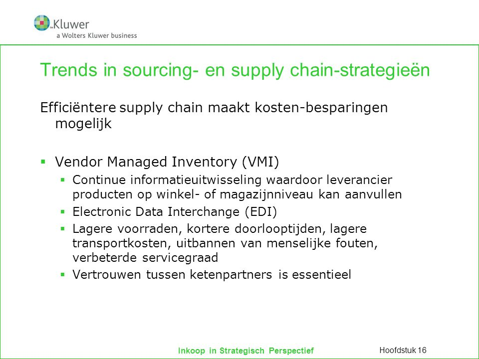 Trends in sourcing- en supply chain-strategieën