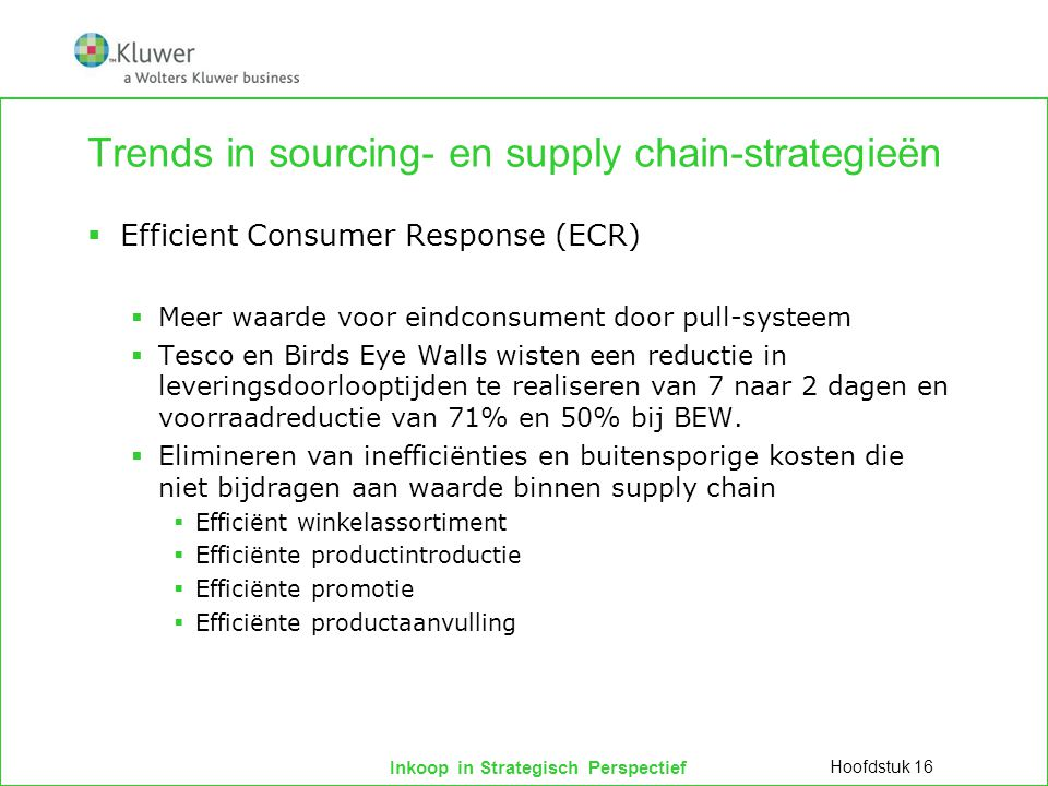 Trends in sourcing- en supply chain-strategieën