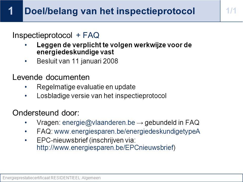 Doel/belang van het inspectieprotocol