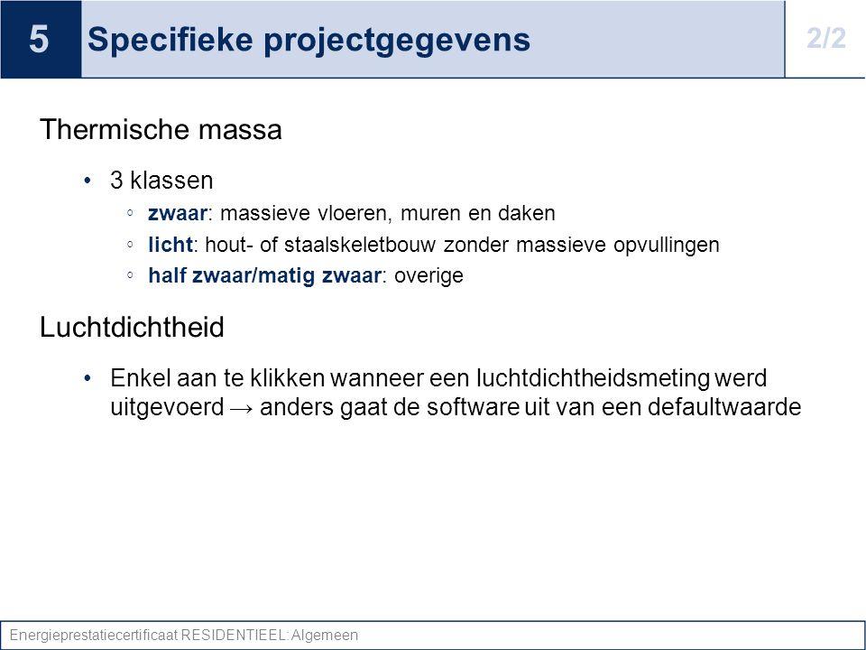 Specifieke projectgegevens