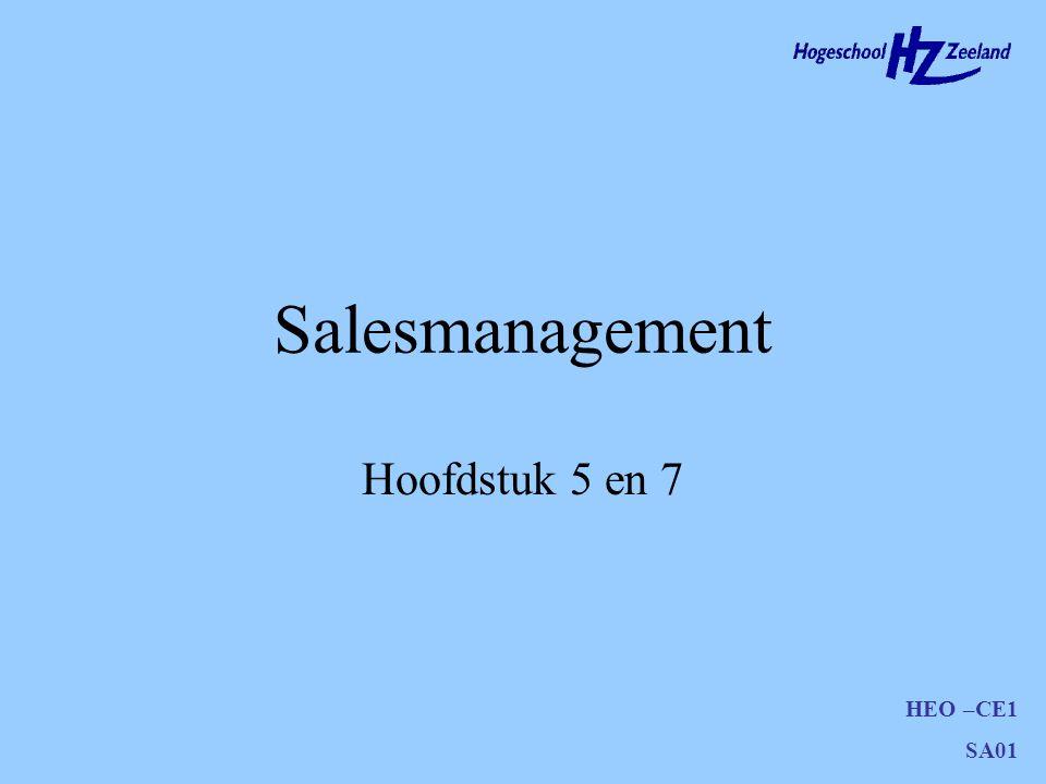 Salesmanagement Hoofdstuk 5 en 7
