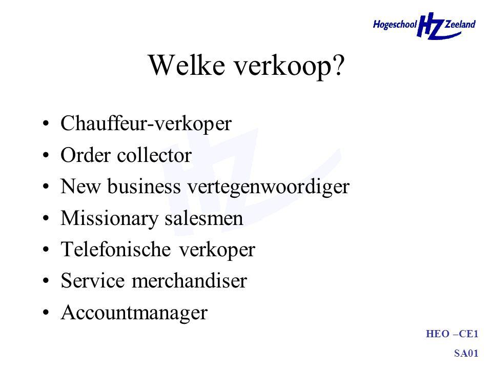 Welke verkoop Chauffeur-verkoper Order collector