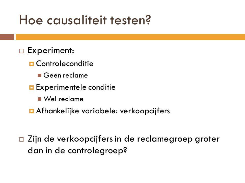 Hoe causaliteit testen