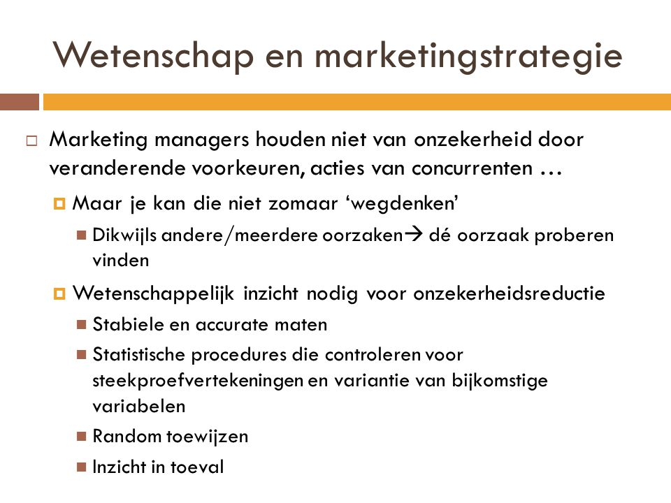 Wetenschap en marketingstrategie