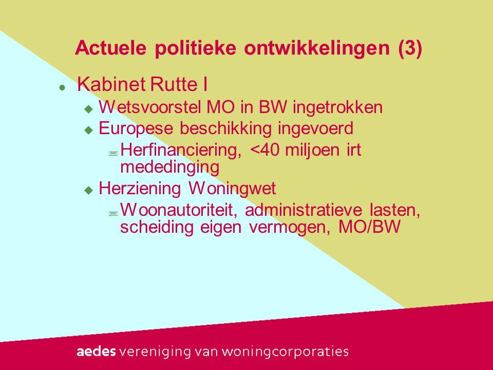 Actuele politieke ontwikkelingen (3)