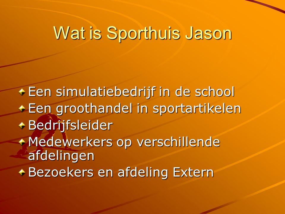 Wat is Sporthuis Jason Een simulatiebedrijf in de school