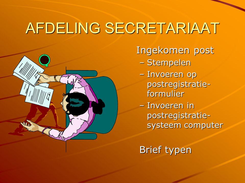 AFDELING SECRETARIAAT