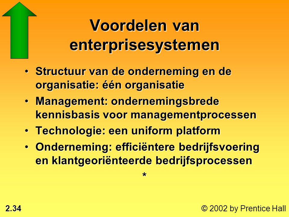 Voordelen van enterprisesystemen