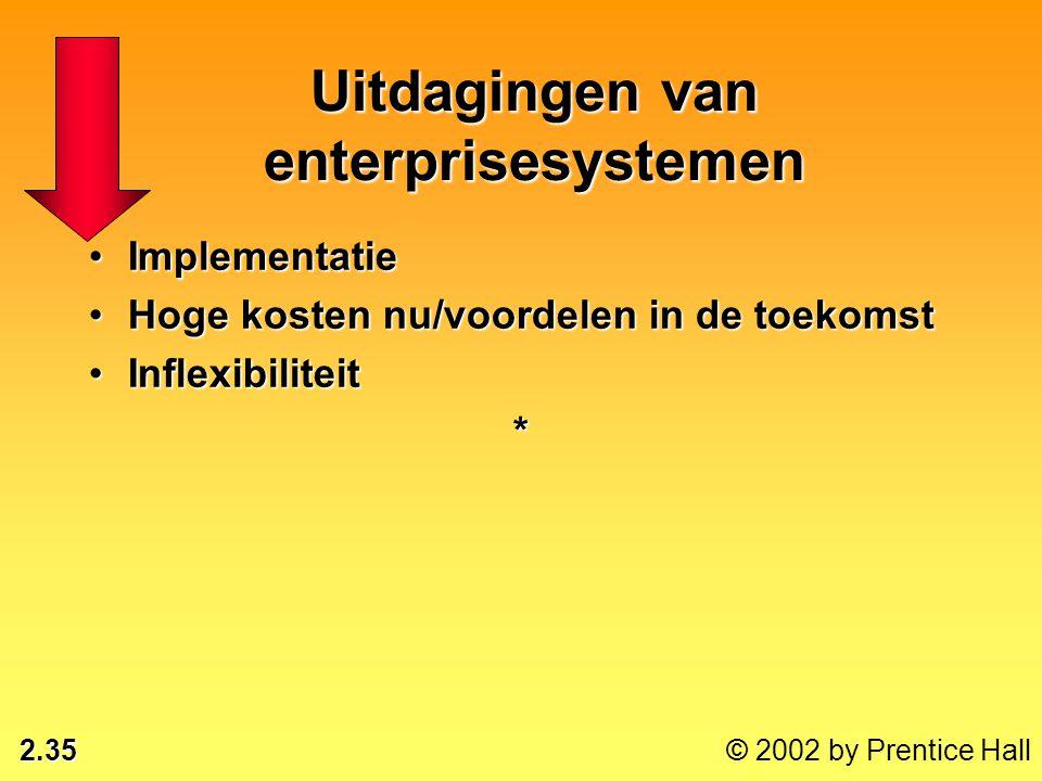 Uitdagingen van enterprisesystemen