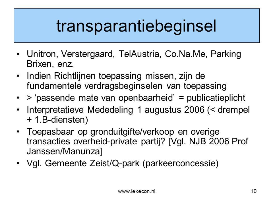 transparantiebeginsel