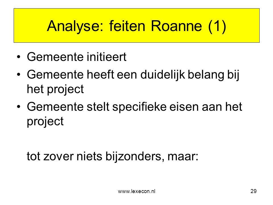 Analyse: feiten Roanne (1)
