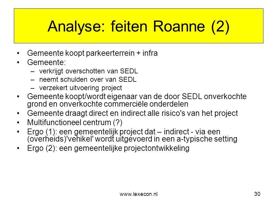 Analyse: feiten Roanne (2)