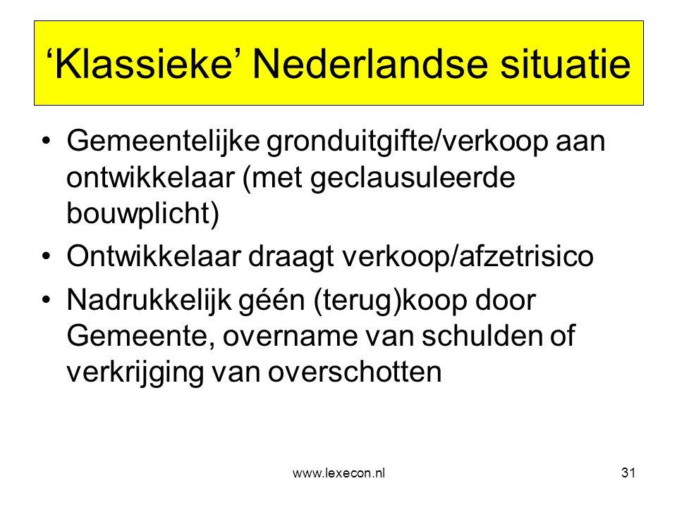 'Klassieke' Nederlandse situatie